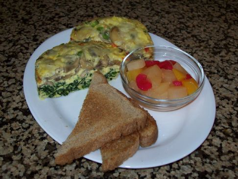 Spinach and Mushroom Baked Eggs