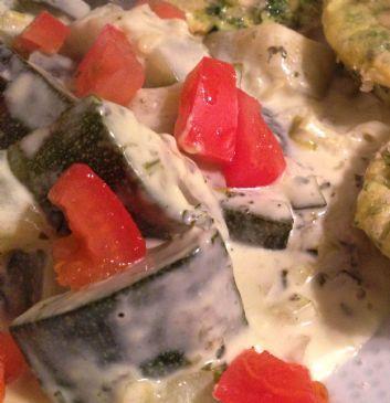 Zucchini in Cream sauce