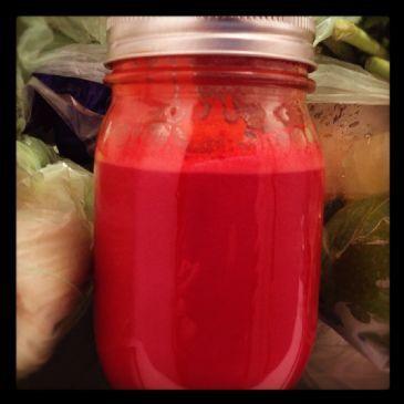 Juice: apple, beet, carrot, lemon, ginger