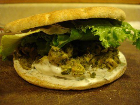 Chicken Pesto Sandwich W/ Golden Raisins