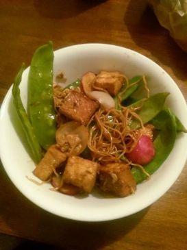 Snow Pea and Tofu Stir Fry