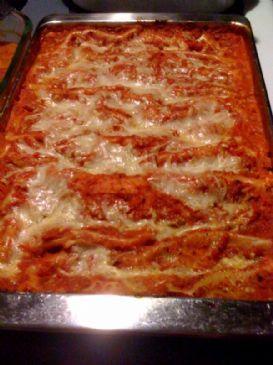 Lazy Cheese Lasagna