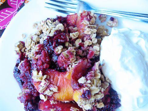 Peach Blackberry Crisp (Or Blueberry)