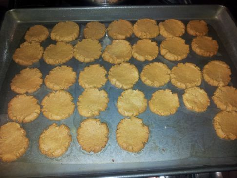 Low sugar, low fat, peanut butter cookies