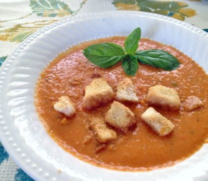 Creamy Healthy Tomato Basil Soup