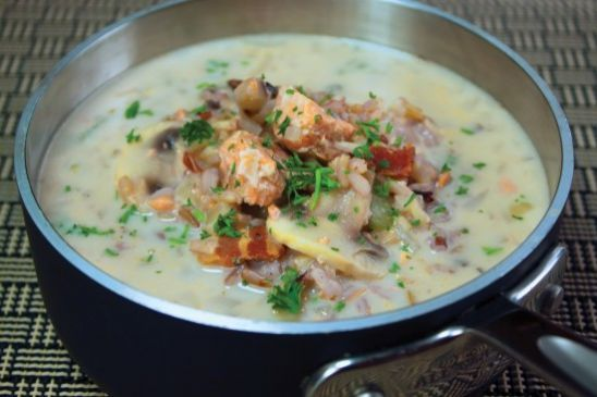 Wild Rice and Salmon Soup