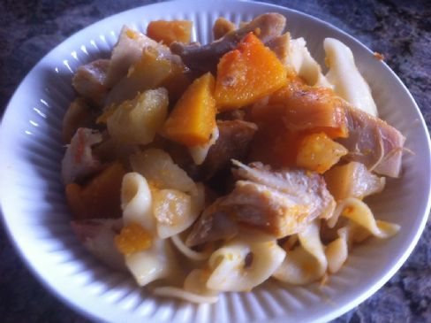 Chicken crockpot with squash and pineapple