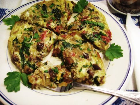 Generous Mushroom and Spinach Garden Frittata