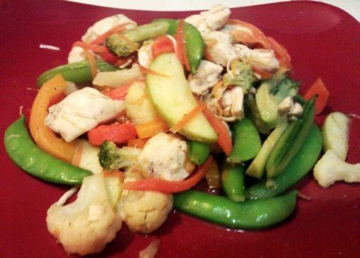 Apple Ginger Chicken Stir Fry