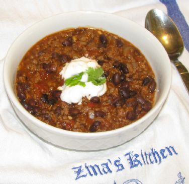 Spicy Beef and Black Bean Chili