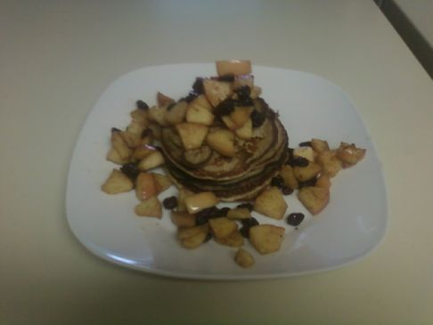 Cottage Cheese Pancakes w/ Baked Apples