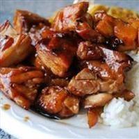 Bourbon Chicken, Rice and Veggies