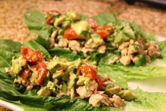 Chicken Wraps with Avocado Salsa
