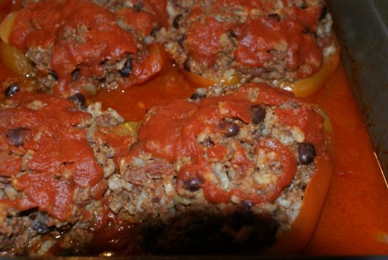 Stuffed Bell Peppers w/ Black Beans