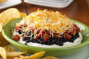 Layered Black Bean Taco Dip