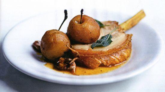 Pork Chop & Apple Roast with Sage & Cider Gravy