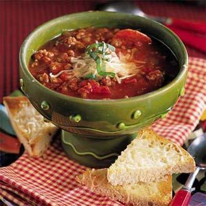 Turkey Pepperoni Soup
