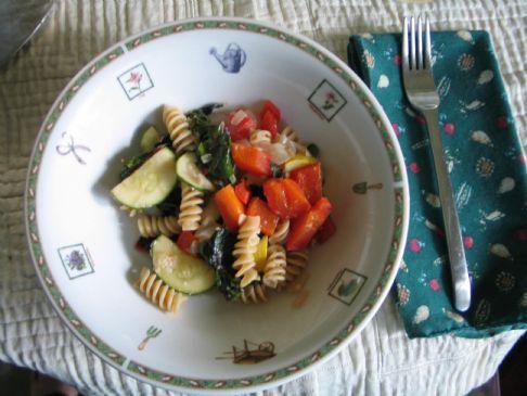 Fresh Summer Vegetables Stir Fry with Rotini