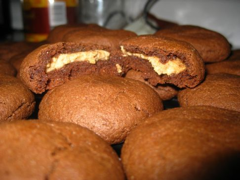 Almond Butter Stuffed Cocoa Cookies