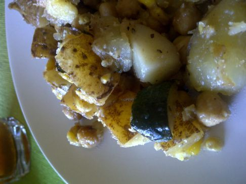 Roasted Potato Salad Dinner