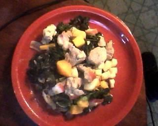 Fall Pork with Apples & Kale