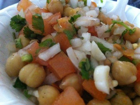 Spicy Garbanzo beans Salad