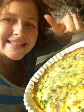 RamonaFlowerz LowFat Spinach Quiche
