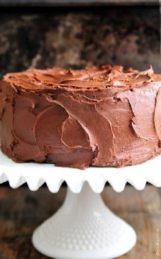 Chocolate Cake w/ chocolate butter cream frosting
