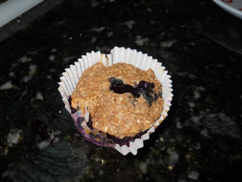 Oatmeal Buckwheat Bran Blueberry Muffins