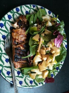 Pear and Feta Spinach Salad