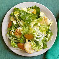 Escarole, Orange & Avocado Salad with Scallops