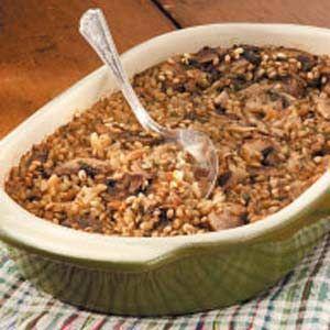 Barley Mushroom Casserole