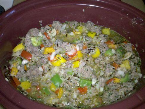 Long Grain & Wild Rice With Italian Sausage