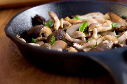 Triple Mushroom Saute with Toasted Walnuts