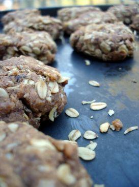 Agave Oatmeal Raisin Flax Cookies