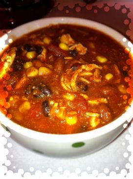 Weight Watchers Crock Pot Chicken Taco Chili 6P+