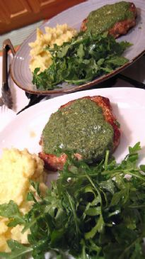 Pork with Salsa Verde and Salad