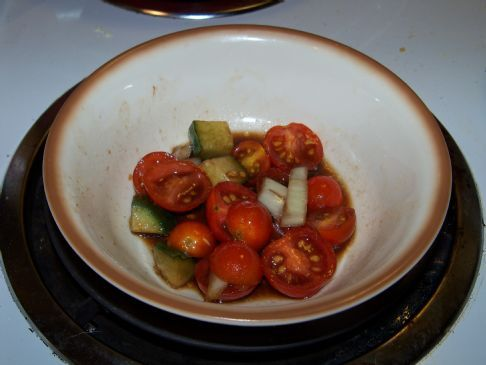 Marinated Tomato, Cucumber and Onion Salad