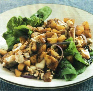 Warm Panfried Chicken & Apple Salad
