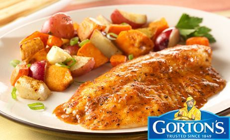 Simply Bake Tilapia with Roasted Vegetables from Gorton's®