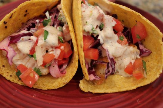 Basa fish tacos recipe sparkrecipes for What kind of fish for fish tacos