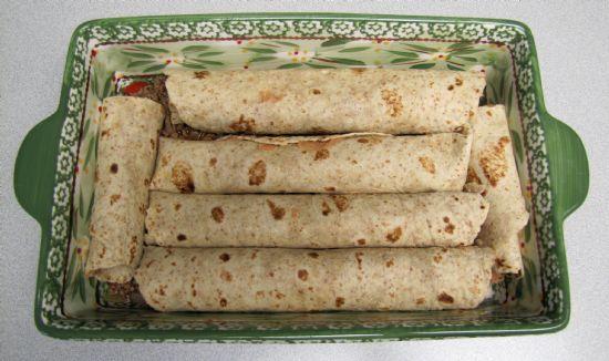 Quick Ground Beef & Cheese Enchiladas