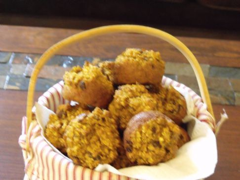 Oatmeal/Pumpkin Breakfast muffins