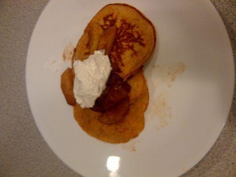 Sweet Potato Latkes (Pancakes) with Apple Compote