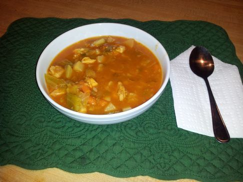 Spicy Cabbage & Chicken Soup