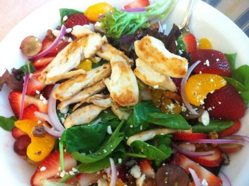 Strawberry Fields Salad with Chicken Breast