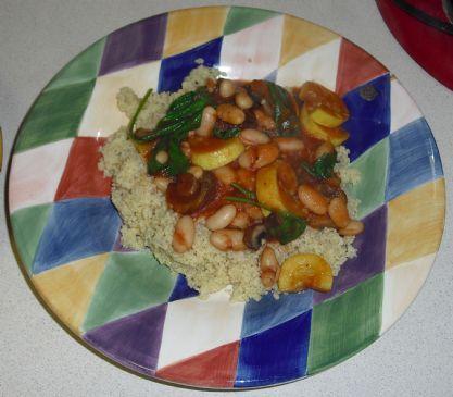 Yellow Squash, Mushroom and White Bean Stew