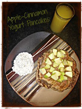 Apple Cinnamon Yogurt Pancakes