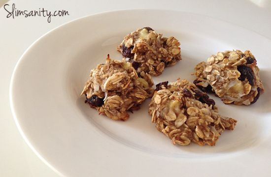 3 Ingredient Oatmeal Banana Raisin Cookie Bites