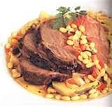Leg of Lamb with White Beans